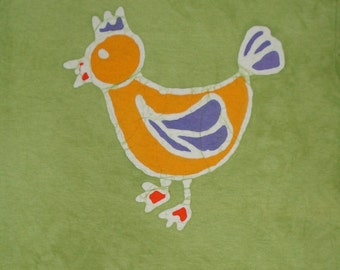 Chicken Tee Shirt Batik Farm Life Kids Tee Shirt READY TO SHIP