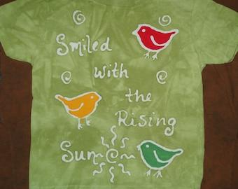 Bob Marley Tee Shirt Adult Batik Clothing Three Little Birds  CUSTOM MADE