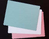 A2 Scallop Flat Cards or Invitation Blank . Available in 14 Colors . Set of 10