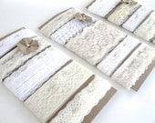 Lace Sampler Set - 10 yards of vintage lace - vanilla cream collection - wedding diy, mixed media, inspiration, embellishment, wedding