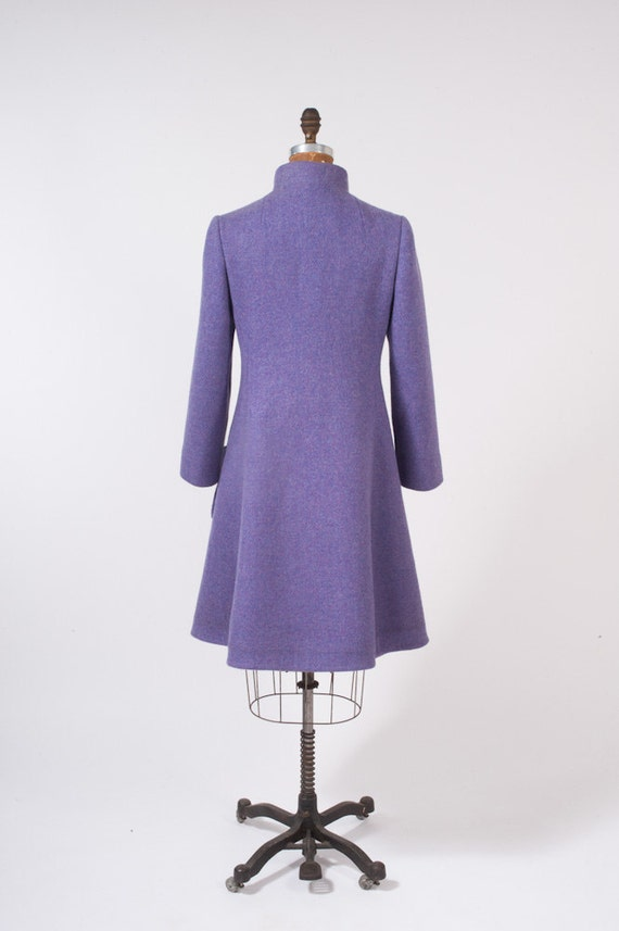 Vintage Coat 1960s Lavender Wool Double Breasted Saks Fifth