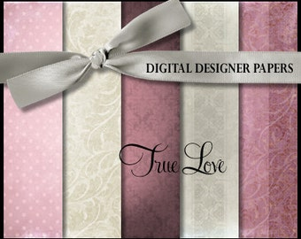 Digital Papers - TRUE LOVE - 12x12 Expertly Designed Photography Backdrops for Photographers & Scrapbookers.
