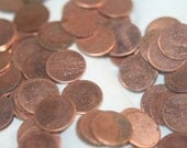 20 copper plated disks blanks