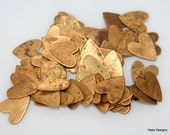 vintage brass hearts 20 pieces tiny