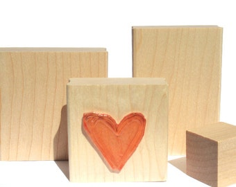"Custom Stamp - Custom Rubber Stamp - Personalized Stamp - Logo Stamp - Wedding Stamp - 2 x 2"" WOOD MOUNTED - 1 FREE Pay 4 Get 5"
