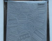 Easter Eggs folder - Darice Easter eggs - embossed eggs - a2 Folder - Darice embossing - darice folder - gift for cardmaker - Card Embossing
