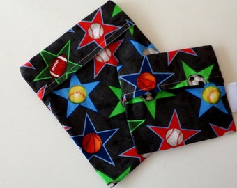 Reusable Sandwich Bag Set - Sports Star