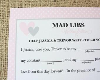 Wedding Mad Libs (printable)