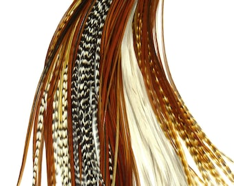 100 Premium Natural Feather Extension Mix, Long and Short Wholesale Bulk Lot 5-13 inches