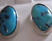 Rare Sleeping Beauty Turquoise post earrings by Beadles and Stones