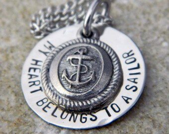 My Heart Belongs to a Sailor with Anchor Disc Charm