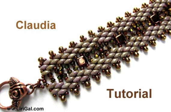 Tutorial Claudia SuperDuo and Tile Beadwork Bracelet PDF