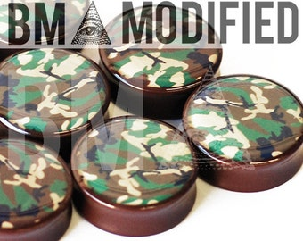 "7/16"" (11mm) Standard Camo BMA Modified Plugs Pair"
