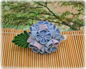 Sweet Hydrangea Mini Japanese Hair Clip