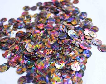100 pcs multi colored sequins/KBRS033