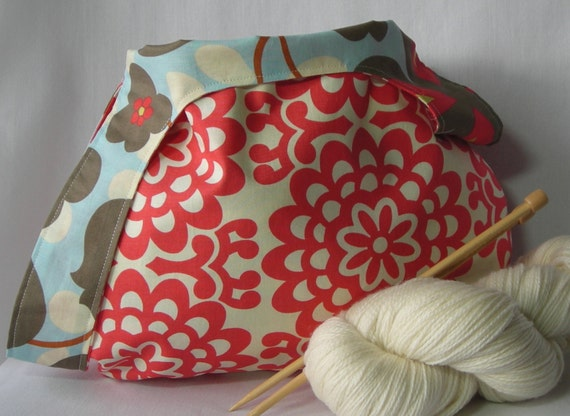 Amy Butler Knitting Bag Pattern : Knitting Crochet Project bag - Japanese Knot Bag - shawl ...