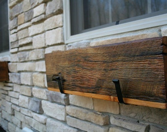 "YOUR Custom Made Reclaimed and Recycled Barn Wood 24"" Long Barn Wood Window Box, Center Piece or Planter for Outdoors.  FREE SHIPPING - WB50"