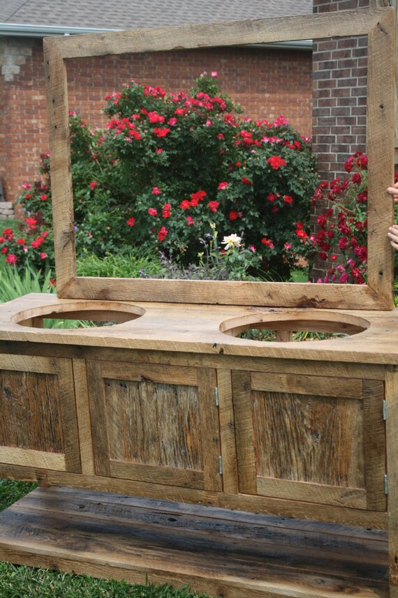 Your Custom Made Barn Wood Double Vanity Cabinet Or
