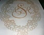 Wedding Aisle Runner Hand Painted, Personalized & Custom Design, DEPOSIT for any length design