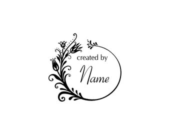 Handle Mounted or Cling Personalized Name custom made rubber stamps C26
