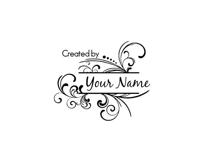 Handle Mounted or Cling Personalized Name custom made rubber stamps C18