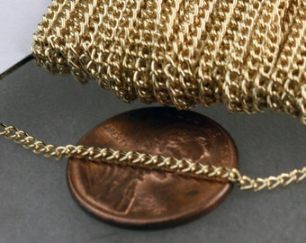 12ft of Rose Gold curb chain 2.0mm - unsoldered Links