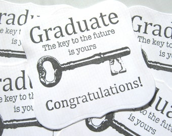Graduation Gift Tags, For the Graduate Gift Tags, Key to the Future Tags