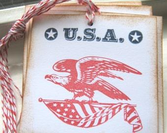 Patriotic USA Gift Tags