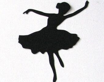 Ballerina dancer die cut embellishments in any color set of 6