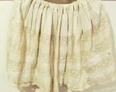 Reclaimed Victorian Vintage Slip Delicate Eyelet Skirt