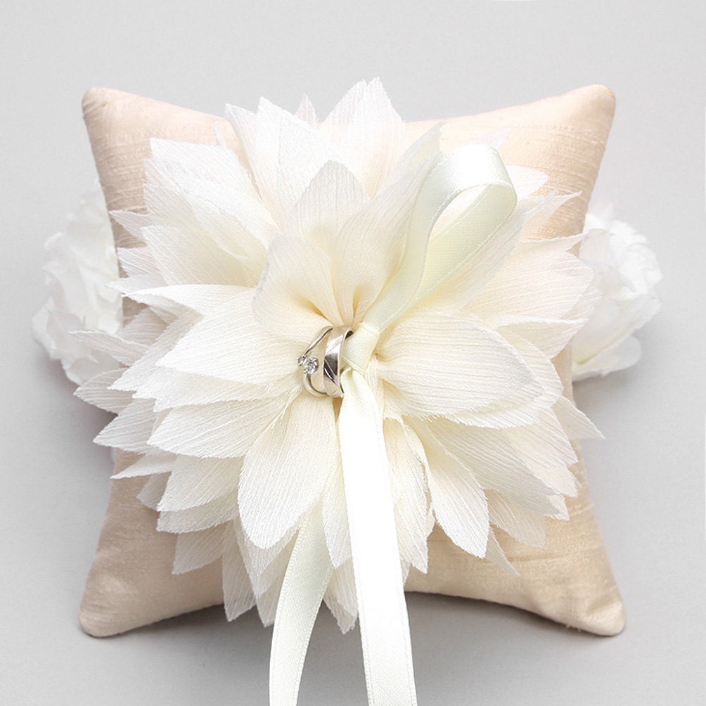 Ring Pillow Wedding Ring Pillow Flower Ring By WoomeeBridal