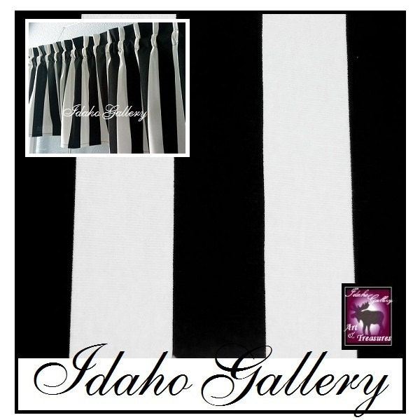 Window Treatment Kitchen Bedroom Curtain Black And White