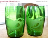 Love It Sale Little Birdie Etched Perrier Water Bottle Glasses