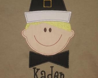 Pilgrim Boy Custom Personalized Thanksgiving Shirt