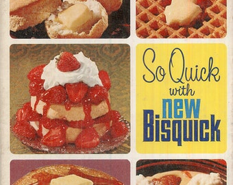 Classic Bisquick Cookbook Vintage So Quick with New BISQUICK COOKBOOK Recipes Baking CrabbyCats, Crabby Cats