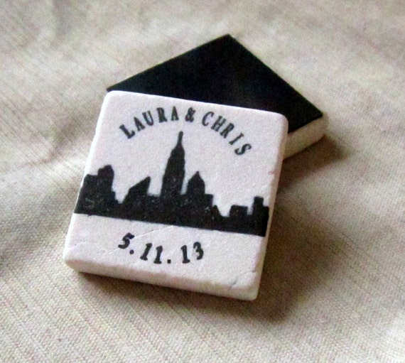 New York City Skyline Save the Date Magnets - Personalized New York City Wedding Favors - Set of 25