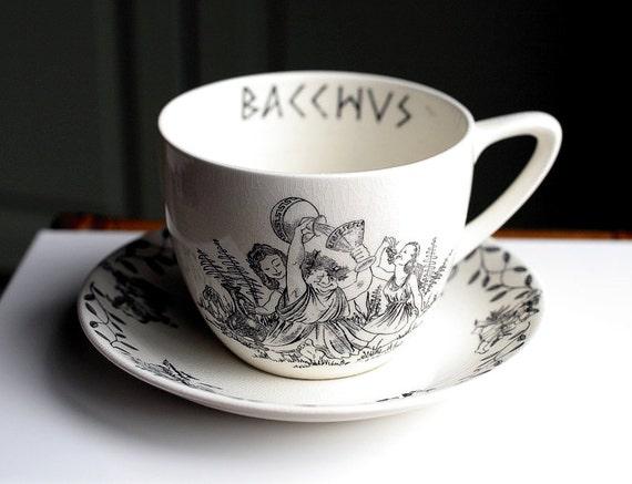 Large Vintage Cup And Saucer Set Vintage Crown Devon