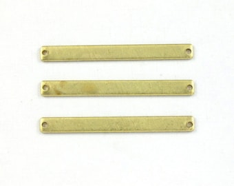10 blank BAR jewelry pendant or earring drops or bracelet piece. 41mm x 4mm (S49).