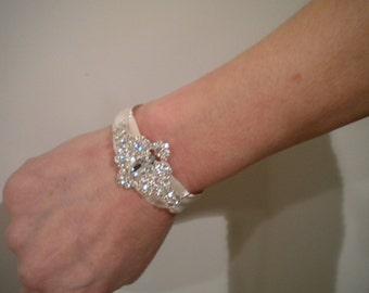 Bridal Cuff, Weddings, Rhinestone Cuff, Cuff, Wedding Cuff, Wedding Bracelet, Bridal Jewelry, Wedding Jewelry, Bracelet