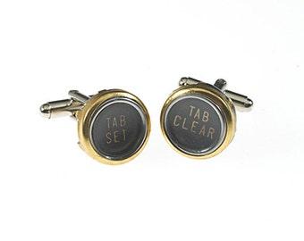 Vintage Typewriter Function Key Cufflinks (gold)