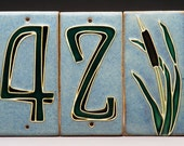 Handmade Three-Digit House Number Tiles - Made to Order