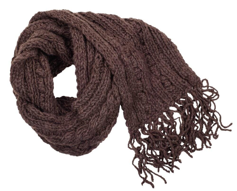 100 tibetan yak wool winter cable scarf 2101