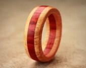 Orange Redheart Wood Ring