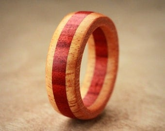Orange Redheart Wood Ring