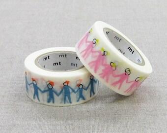 mt Washi Masking Tape - Neighbour in Blue or Pink - mina perhonen
