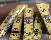 5 vintage ruler cuts, just in case you could use them, coolvintage, wooden ruler, unique,  May 10f