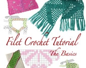 Filet Crochet Tutorial instant digital PDF download
