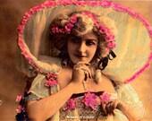 DIGITAL DOWNLOAD of FRENCH 1905 Antique Postcard of Maud D'Orby Opera Singer Paris FRaNce Art Nouveau Woman Vintage Craft Supplies Jpeg