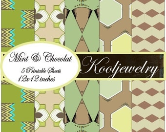 Mint and Chocolat Paper Pack - No. 110