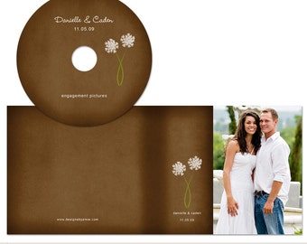 Wildflower Wedding | Elements Photoshop Templates | CD DVD Label and Case